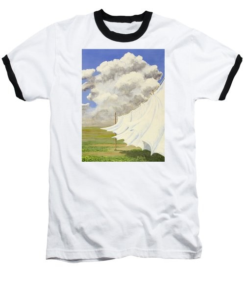 Three Sheets To The Wind Baseball T-Shirt by Jack Malloch
