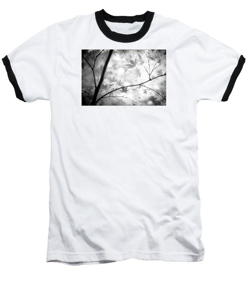 Through The Leaves Baseball T-Shirt by Darryl Dalton