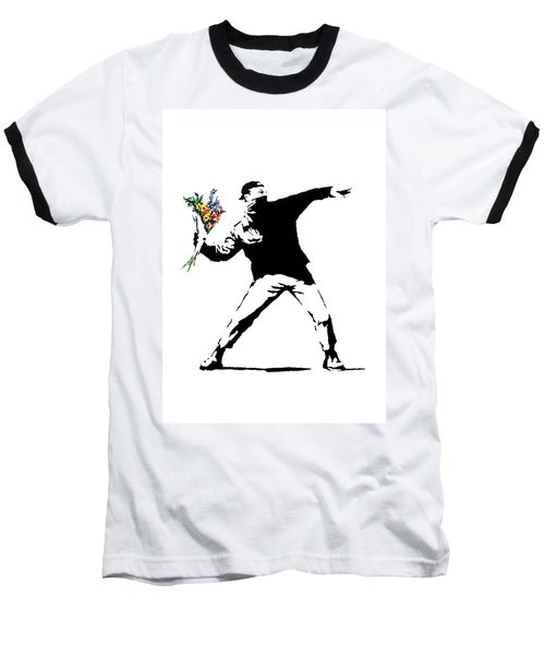 Throwing Love Baseball T-Shirt by Munir Alawi