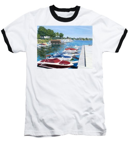 Baseball T-Shirt featuring the painting T.i. Park Marina by Lynne Reichhart
