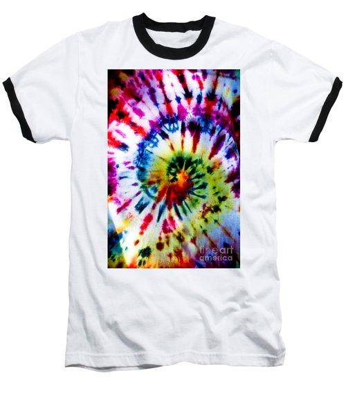 Tie Dyed T-shirt Baseball T-Shirt by Cheryl Baxter
