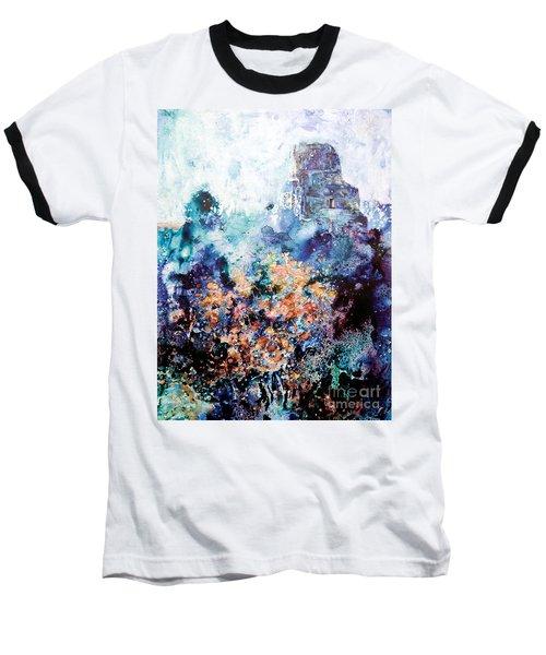 Tikal Ruins Baseball T-Shirt by Ryan Fox