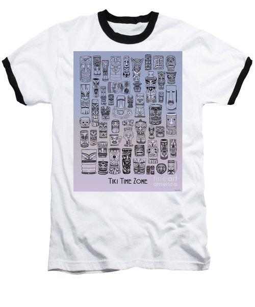 Baseball T-Shirt featuring the digital art Tiki Cool Zone by Megan Dirsa-DuBois