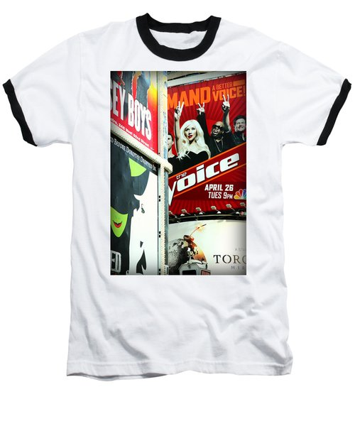 Times Square Billboards Baseball T-Shirt