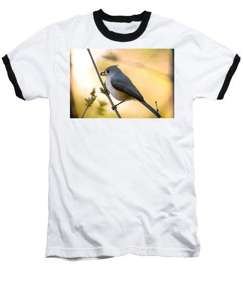 Titmouse In Gold Baseball T-Shirt