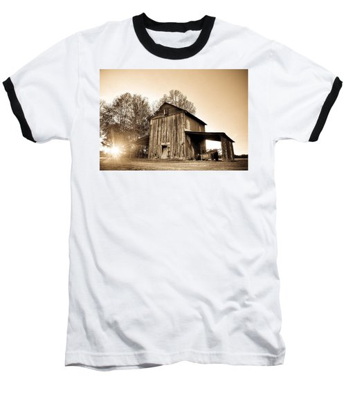 Tobacco Barn In Sunset Baseball T-Shirt