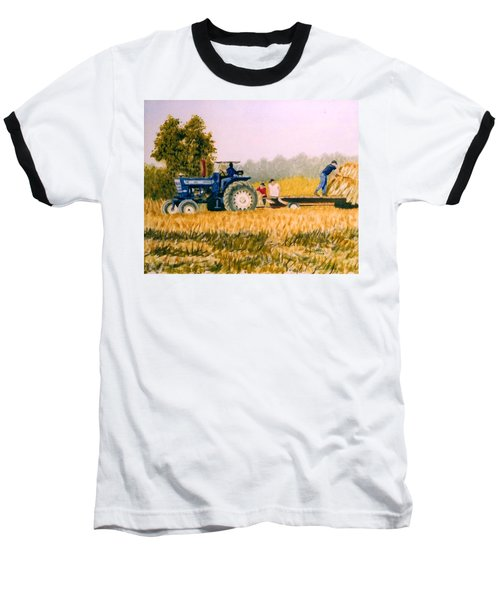 Baseball T-Shirt featuring the painting Tobacco Farmers by Stacy C Bottoms