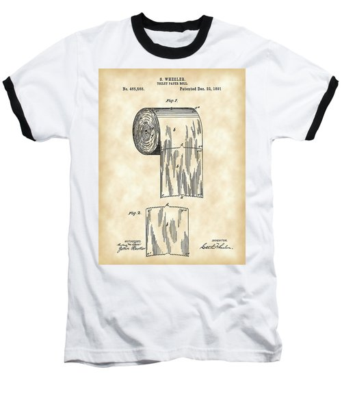 Toilet Paper Roll Patent 1891 - Vintage Baseball T-Shirt