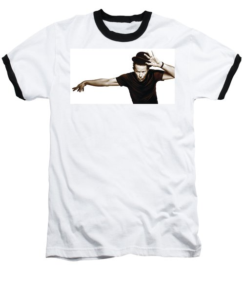 Tom Waits Artwork  4 Baseball T-Shirt