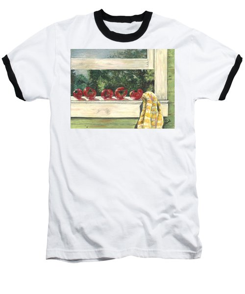 Tomatoes On The Sill Baseball T-Shirt
