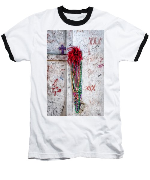 Tomb Of Marie Laveau New Orleans Baseball T-Shirt