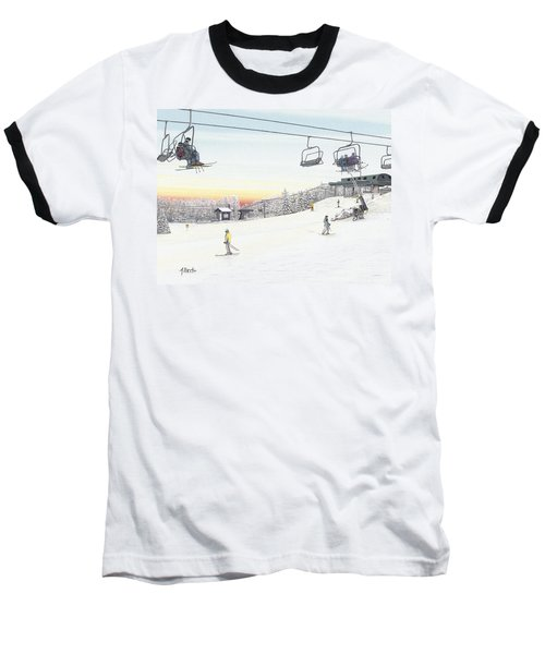 Baseball T-Shirt featuring the painting Top Of The Mountain At Seven Springs by Albert Puskaric