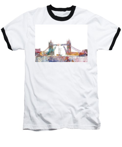 Tower Bridge Colorsplash Baseball T-Shirt by Aimee Stewart