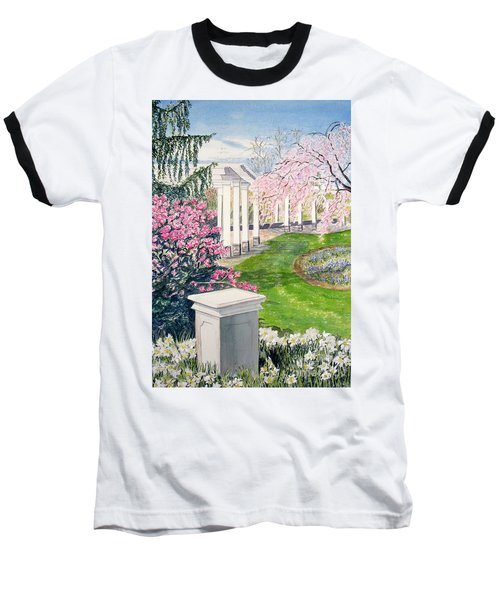 Baseball T-Shirt featuring the painting Tower Hill by Carol Flagg