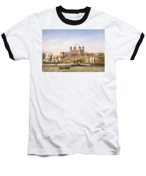 Tower Of London, 1862 Baseball T-Shirt by Achille-Louis Martinet