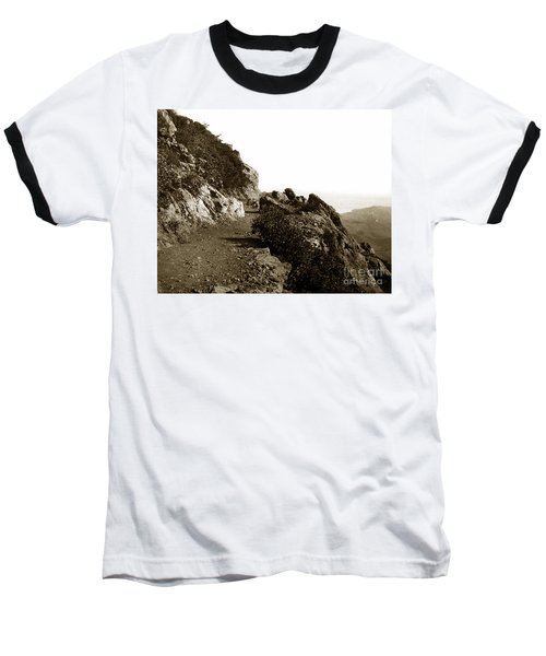 Baseball T-Shirt featuring the photograph Trail On Mt. Tamalpais Marin Co California Circa 1902  by California Views Mr Pat Hathaway Archives
