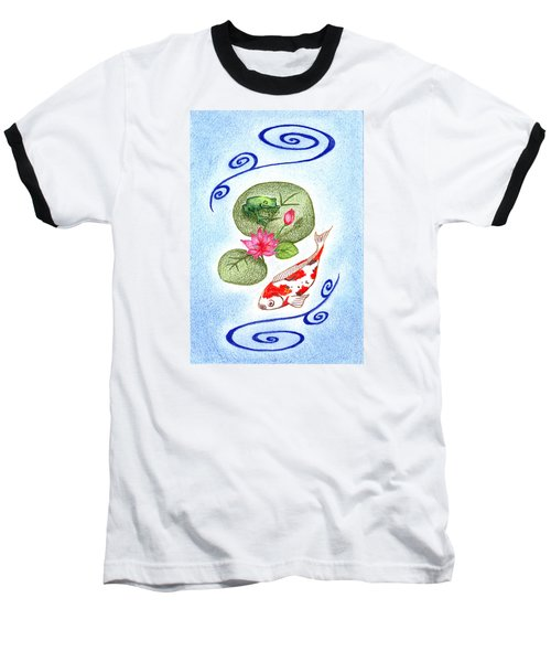 Baseball T-Shirt featuring the drawing Tranquility by Keiko Katsuta