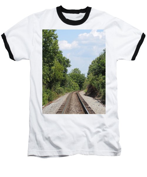 Baseball T-Shirt featuring the photograph Traxs To Anywhere by Aaron Martens