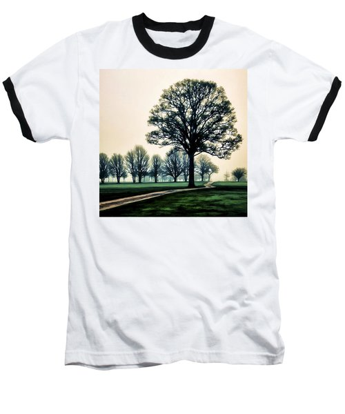 Tree At Dawn On Golf Course Baseball T-Shirt