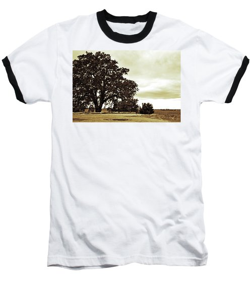 Tree At End Of Runway Baseball T-Shirt