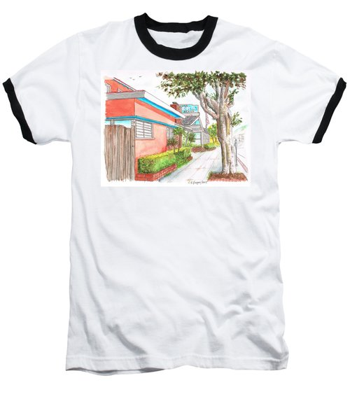 Tree In Laguna Riviera Hotel In Laguna Beach - California Baseball T-Shirt