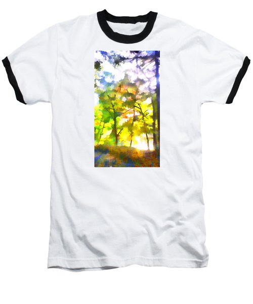 Baseball T-Shirt featuring the digital art Tree Leaves by Frank Bright
