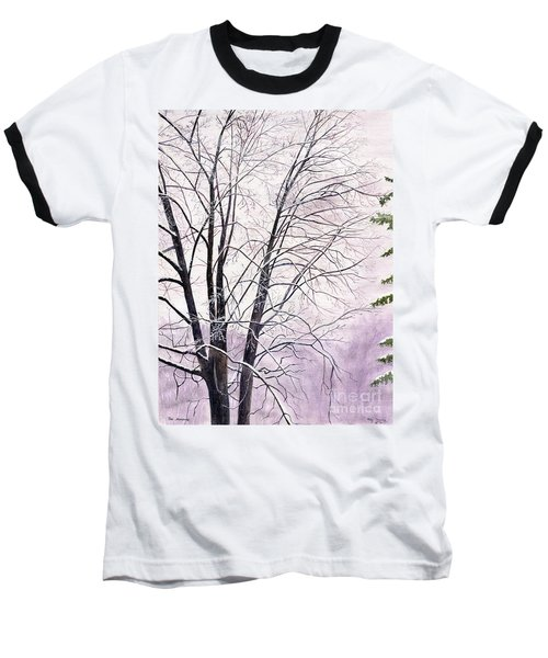 Baseball T-Shirt featuring the painting Tree Memories by Melly Terpening