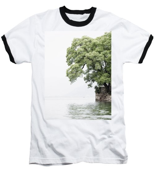 Tree Next To A Lake Baseball T-Shirt