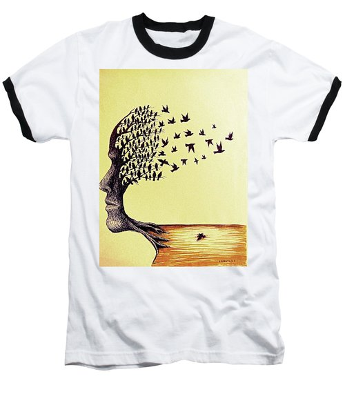 Tree Of Dreams Baseball T-Shirt by Paulo Zerbato