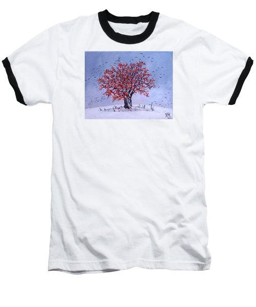 Baseball T-Shirt featuring the painting Tree Of Life by Nina Mitkova