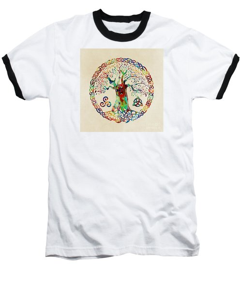 Tree Of Life Baseball T-Shirt by Olga Hamilton