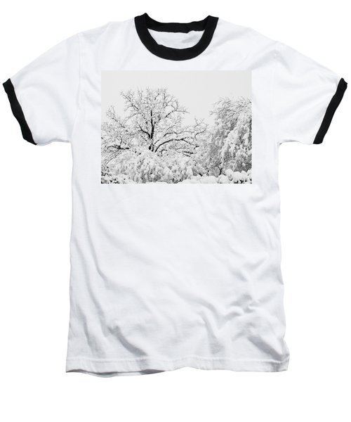 Tree Snow Baseball T-Shirt