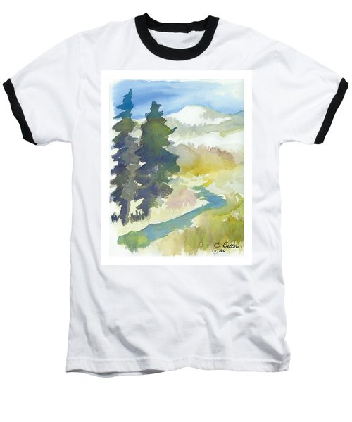Baseball T-Shirt featuring the painting Trees by C Sitton