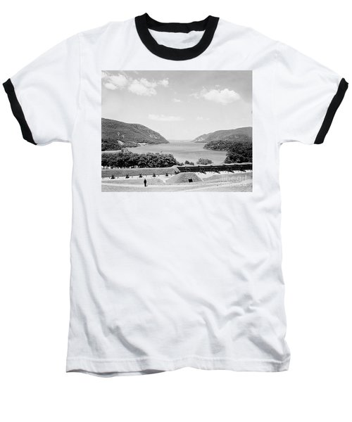 Trophy Point North Fro West Point In Black And White Baseball T-Shirt