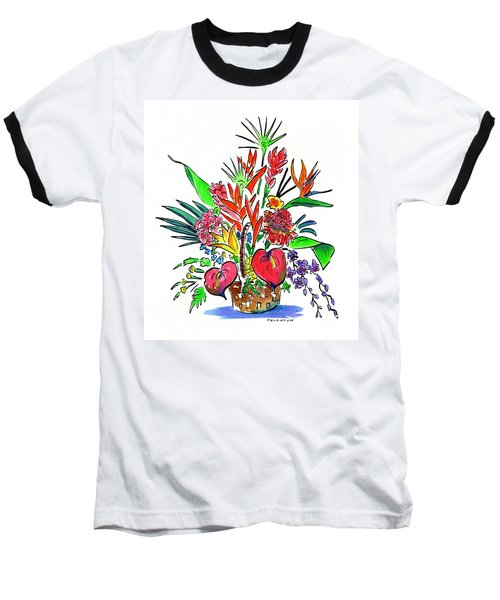 Tropical Basket Baseball T-Shirt