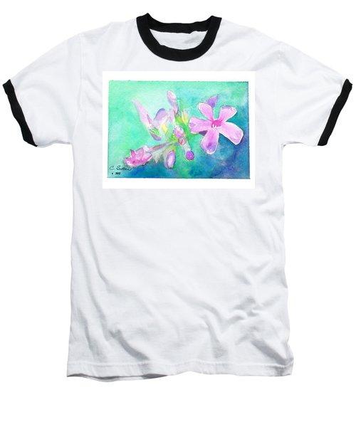 Tropical Flowers Baseball T-Shirt by C Sitton