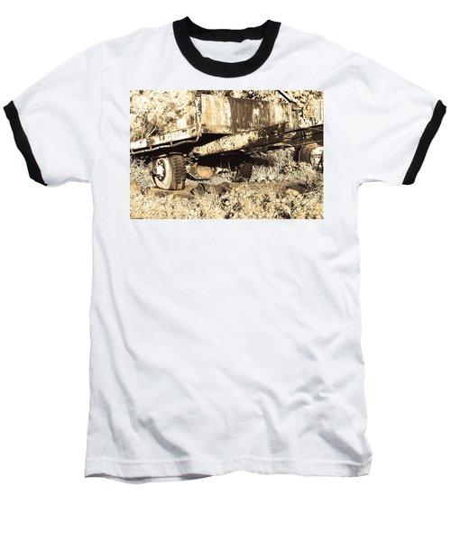 Truck Wreckage II Baseball T-Shirt by Cassandra Buckley