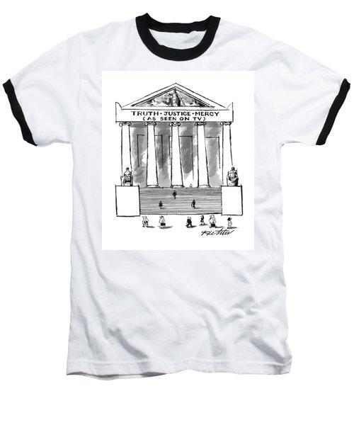 Truth Justice Mercy Baseball T-Shirt