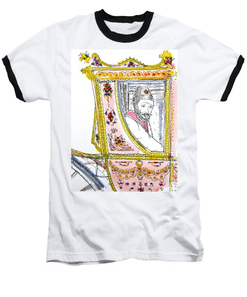Tsar In Carriage Baseball T-Shirt