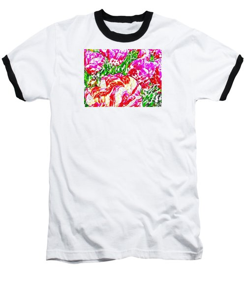 Tulip Infusion Baseball T-Shirt by Zafer Gurel