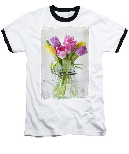 Tulips In A Jar Baseball T-Shirt