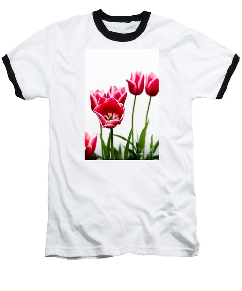 Tulips Say Hello Baseball T-Shirt