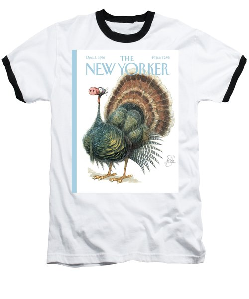 Turkey Wearing A False Pig Nose Baseball T-Shirt