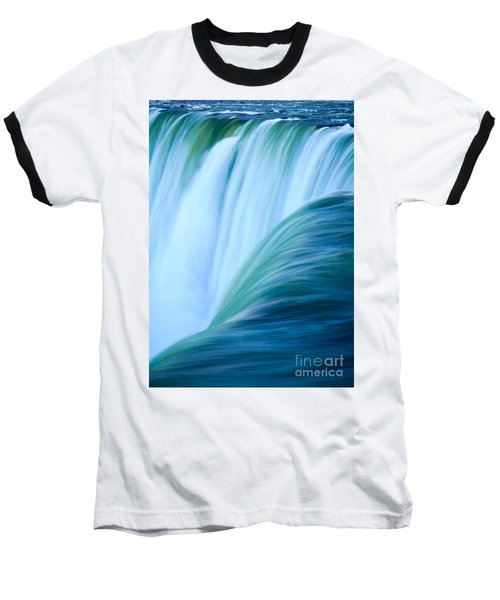 Turquoise Blue Waterfall Baseball T-Shirt