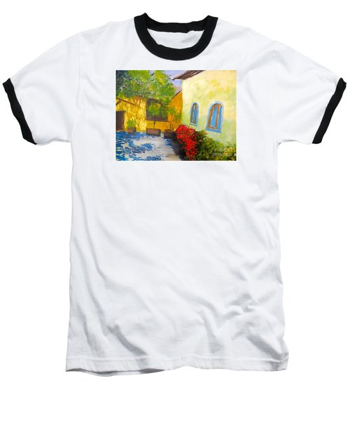 Tuscany Courtyard 2 Baseball T-Shirt