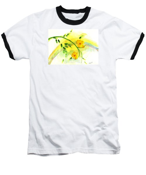Baseball T-Shirt featuring the painting 'twas By Grace by Holly Carmichael
