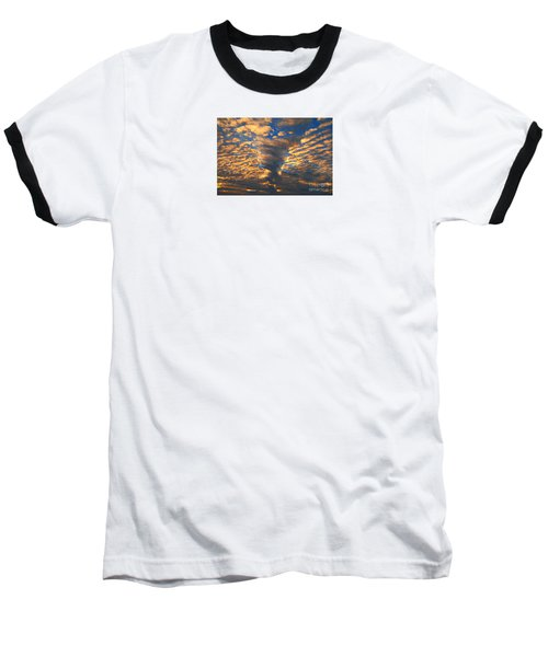 Twisted Sunset Baseball T-Shirt by Janice Westerberg