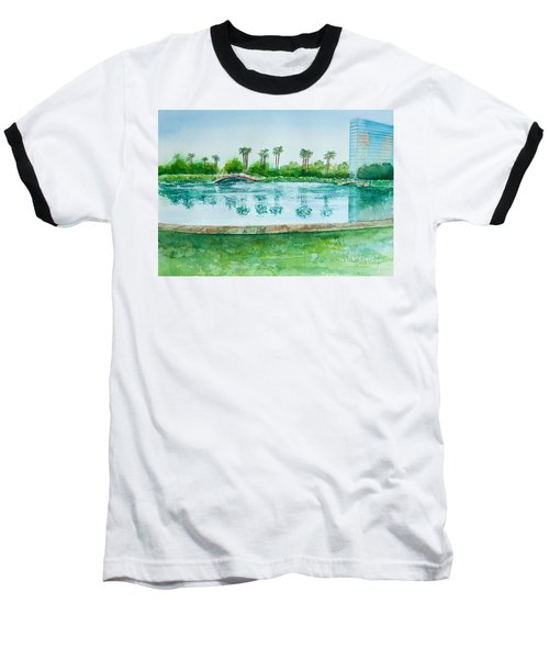 Two Bridges At Rainbow Lagoon Baseball T-Shirt