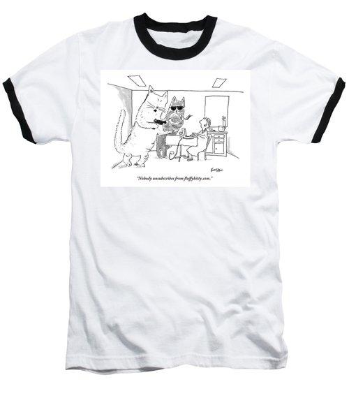 Two Cats Threaten An Old Lady Baseball T-Shirt