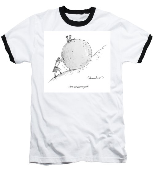 Two Children Sit At The Top Of Sisyphus's Boulder Baseball T-Shirt